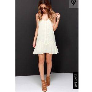 Lulus cream dress
